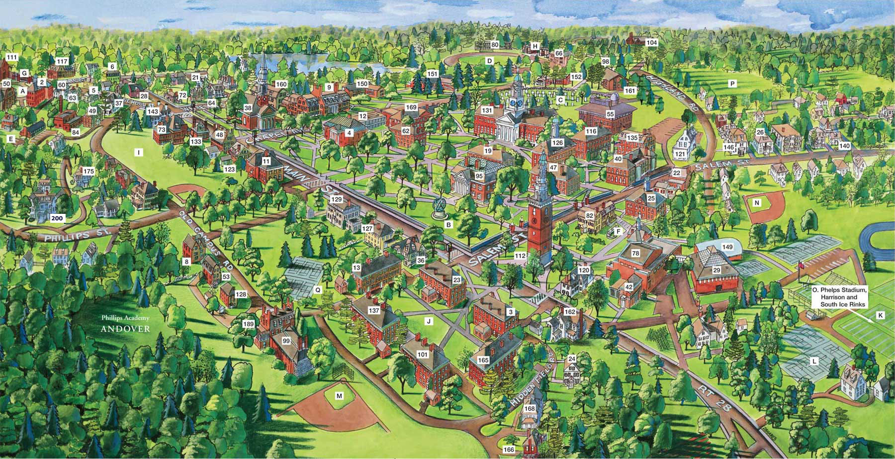 Phillips Exeter Academy Campus Map.Phillips Academy Andover Map